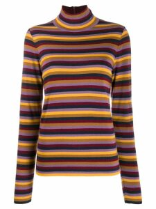 Tory Burch striped knit jumper - Red