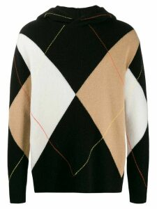 Pringle of Scotland Reissued argyle hooded jumper - Black