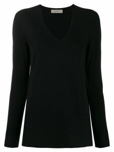 D.Exterior scallop knit detail jumper - Black