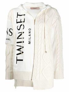 Twin-Set logo hoodie - White