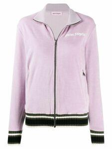 Palm Angels zip up stripe detail jacket - PURPLE