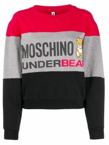 Moschino logo print sweatshirt - Red