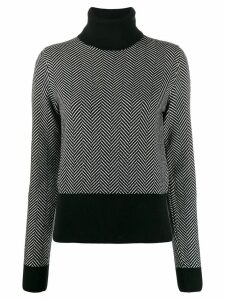Dolce & Gabbana chevron roll neck jumper - Black