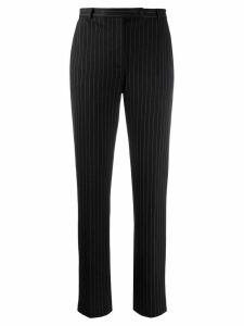Styland pinstripe straight-leg trousers - Black
