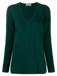 D.Exterior scallop knit detail jumper - Green