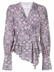 Les Reveries snakeskin-print blouse - Purple