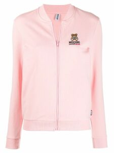 Moschino logo embroidered cardigan - Pink