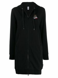 Moschino Underbear long zipped hoodie - Black