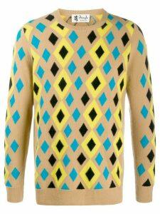 Pringle of Scotland Reiussed abstract diamond jumper - NEUTRALS