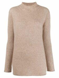 Agnona roll-neck jumper - NEUTRALS