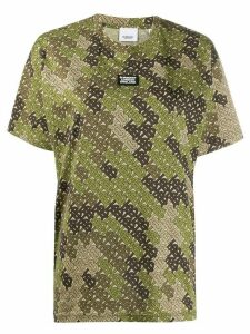 Burberry camouflage monogram T-shirt - NEUTRALS