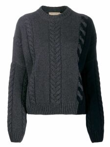 Maison Kitsuné cable knit jumper - Grey