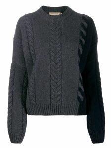 Maison Kitsuné cable knit jumper - Grey
