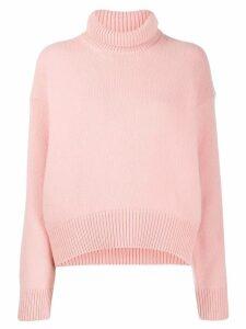 Laneus rollneck knit sweater - PINK