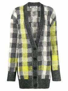 McQ Alexander McQueen checked knit cardigan - NEUTRALS