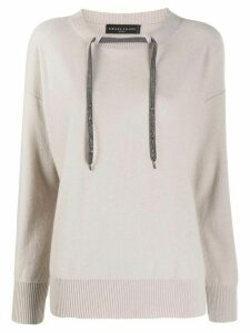 Fabiana Filippi drawstring cashmere sweater - NEUTRALS