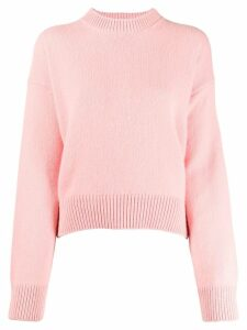 Laneus crew-neck knit sweater - PINK
