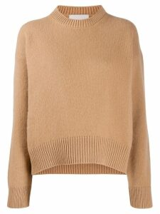 Laneus crew-neck knit sweater - Neutrals