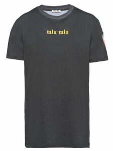 Miu Miu printed T-shirt - Black