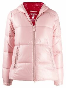Save The Duck hooded padded jacket - PINK