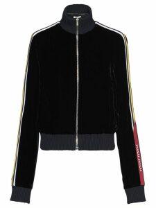 Miu Miu technical velvet zipped jacket - Black