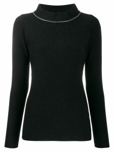 Fabiana Filippi slim-fit knit sweater - Black