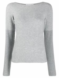Fabiana Filippi slim-fit knit sweater - Grey