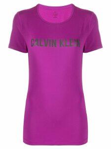 Calvin Klein logo print T-shirt - PURPLE