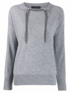 Fabiana Filippi drawstring cashmere sweater - Grey