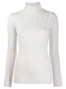 Fabiana Filippi ribbed knit sweater - White