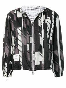 Thom Browne bow tie collage hoodie - Black