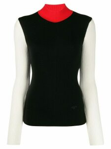 Tory Burch colour-block knit jumper - Black
