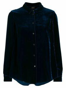 Aspesi textured buttoned shirt - Blue