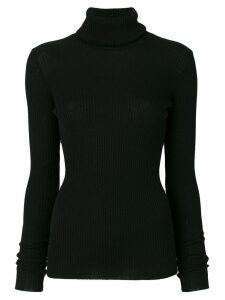 Nude roll neck sweatshirt - Black