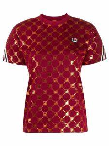 Fila Rosalia logo patterned T-shirt - Red