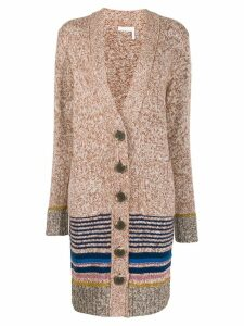 See By Chloé striped trim cardigan - Brown