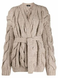 Dsquared2 chunky cable knit cardigan - NEUTRALS
