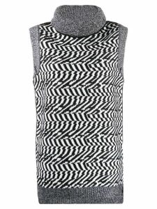 Stella McCartney roll-neck sweater-vest - Black
