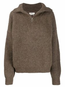 Isabel Marant Étoile zipped oversize jumper - Brown