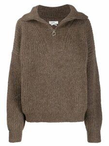 Isabel Marant Étoile zipped oversize jumper - Brown