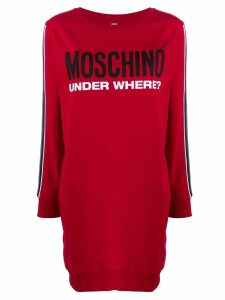 Moschino logo print long shirt - Red
