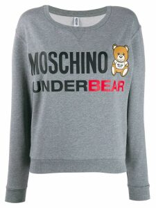 Moschino Teddy Bear logo sweatshirt - Grey