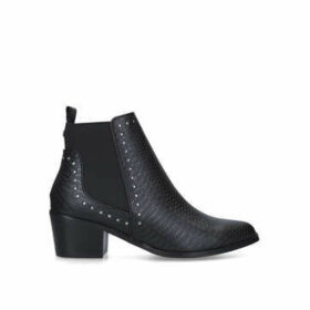 Kg Kurt Geiger Spindle - Black Studded Block Heel Ankle Boots