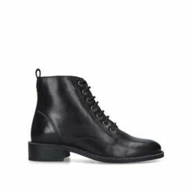 Carvela Spike - Black Lace Up Ankle Boots