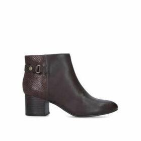 Anne Klein Hilda - Brown Block Heeled Ankle Boot