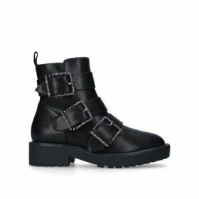 KG Kurt Geiger Trixie - Black Buckle Biker Boot