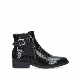Carvela Comfort Rich - Black Patent Croc Effect Ankle Boot