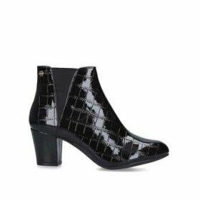 Carvela Comfort Tracey - Black Croc Ankle Boots