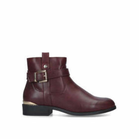 Carvela Comfort Trudy - Wine Buckle Ankle Boots