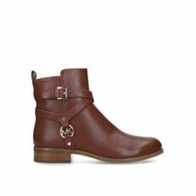 Michael Michael Kors Preston Flat Bootie - Brown Ankle Boot